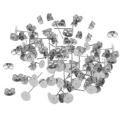 Sharplace 60 Pairs/Lot Hypoallergenic Earrings Pin Stud Blank Back Lock Post Pad Blank Crafts DIY Making Crafts