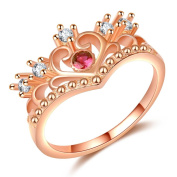 J.MeMi'S Copper 3A Zircon Red Statement Rings for Women Valentine Gift Imperial Crown Series 039