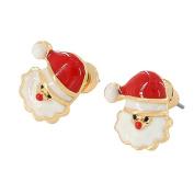 Nikgic A Pair Alloy Santa Claus Earrings Elegant Woman Earrings Chic Girls Earrings