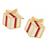 Nikgic A Pair Alloy Christmas Gift Box Earrings Elegant Woman Earrings Chic Girls Earrings