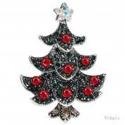 Nikgic Fashion Christmas Tree Brooch Christmas Theme Decorations Exquisite Corsage Pin
