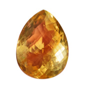 78 Cts Natural Yellow Citrine Cabochon, Faceted Cut Stone, Pear Shape, Loose Semi Precious, Hand Cut, AG-6643