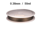 1 Spool of 50 ml Cabled Metre Wire Nylon Sheath 0.38 Steel-Coloured