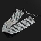 Smile YKK Rhinestone Bridal Multi-Row Clavicle Chain Choker Jewellery 3.8CM