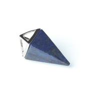 1 x Blue Lapis Lazuli 15 x 32mm Pendant (Pyramid) - (CB52298) - Charming Beads