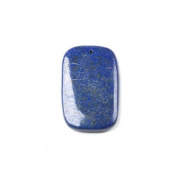 1 x Blue Lapis Lazuli 35 x 55mm Pendant (Rectangle) - (CB48345) - Charming Beads