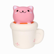 Cat Scented Squishy,Beauty Top 14CM Cute Cup Cat Squeeze Slow Rising Toy Relieve Fun Decor Gift