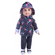 For American Girl Doll Clothing,Cute Wyurhjh® Lifelike Newborn Baby Dolls' Hoodie and Pants for 46cm Our Generation Reborn Pop Toy