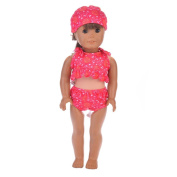 For American Girl Doll Swimwear ,Cute Wyurhjh® Lifelike Newborn Baby Dolls' Swimsuit Clothes for 46cm Our Generation Reborn Pop Toy