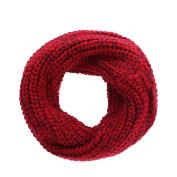 Domybest Winter Baby Kids Snood Scarf Girls Boys Knitted Wool O-Ring Collar Neck Warmer Neckerchief