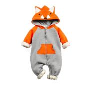 YULAN Baby Clothing Fox Bear Rompers Newborns Body Suit Kids Clothes Boy Girl Jumpsuit Baby Romper Hooded Warm Cotton Infant Overall