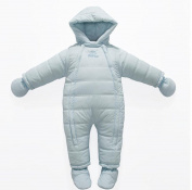 Engerla Baby Snowsuit Infant Hooded Romper Jumpsuit Winter Outfit With foots