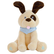 Musical Toys, Hotsellhome Super Jombo Peek Dog Play Hide And Seek Plush Toy Cute Music Dog Doll Interactive Toys