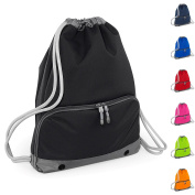 Good Quality Gym Bag by Joggaboms - Swim Bag for Adults and Kids - Drawstring Backpack - Waterproof - Strong stitching and thick cords - Handy zipped wet pocket and shoe compartment