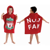 Childrens Official Licenced Football Hooded Towelling Poncho / England, Liverpool, Manchester United, Arsenal, Chelsea