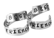 Best Friends Rings Two Aluminium Set Twist BFF Rings