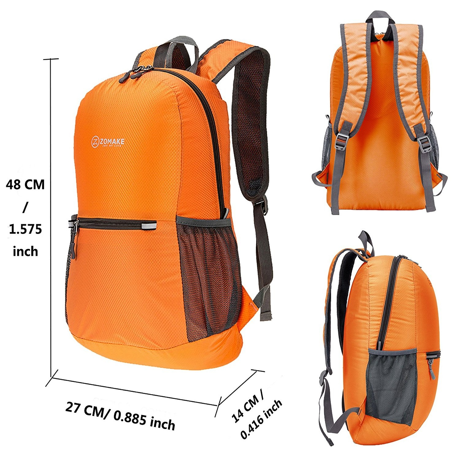 4d377ea09db4 ZOMAKE Ultra Lightweight Packable Backpack Water Resistant Hiking  Daypack,Small Backpack Handy Foldable Camping Outdoor Backpack Little Bag