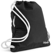 Odyseaco Deluxe Drawstring Gym Bag- Waterproof Swimming Rucksack With Large Zip Pocket Best For School, PE & Sports