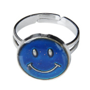 THZY Ring of mood change of colour size adjustable shape of face of smile
