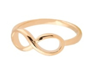 Jewellery Collection Infinity Ring, Gold Size 7