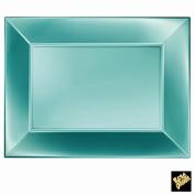 Plastic Plates Pearlescent Nice Large Rectangle PP 345 x 230 mm CFZ 6PZ Tiffany Perlè