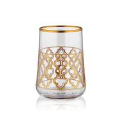 Aheste Coffee Side Glass - Vienna - Gold