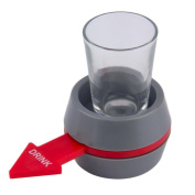 Prevently Brand Funny Creative Portable Spin The Shot Drinking Game Shot Glass Spinner For Home Party Universal