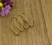 Stainless steel twine spring mouth cloth circle 12pcs , gold