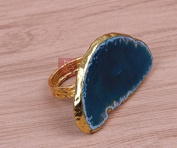 Agate Stone napkin Ring, hotel home napkin buckle, colourful napkin ring ,2pcs , 6