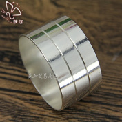 12Pcs -Stainless steel napkin buckle gold napkin ring silver kitchen tableware , v42 silver