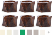 DII Napkin Rings for Weddings, Dinners, Parties, or Everyday Use, Set of 6, Wood Triangle Band