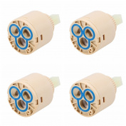 4PCS Hot or Cold Faucet Cartridge Valves, 35mm B Type 3800KPa WCIC Water Pressure Balance Balancing Spool Replacement Faucet Ceramic Valve for Shower Bath Basin Kitchen