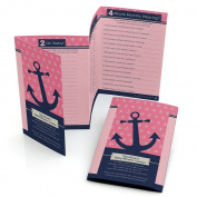 Ahoy - Nautical Girl - Baby Shower Games - Fabulous 5 - Set of 12