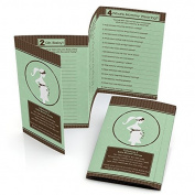 Mommy-To-Be Silhouette - It's Twin Babies - Baby Shower Games - Fabulous 5 - Set of 12