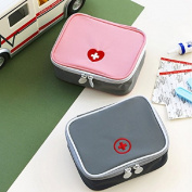 SwirlColor Portable First Aid Pouch Pill Organiser Easy Carry Medicine Container With Multi-pocket for Travel