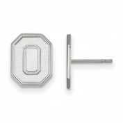 Ohio State University Buckeyes Small Post Earrings in Sterling Silver 2.41 gr