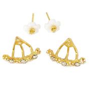 Cute Stud Earrings, Coxeer Girls Daisy Flower All-Match Fashionable Polished Earrings for Women