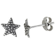 Tiny Sterling Silver Star Stud Earrings 0.8cm