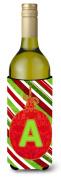 Christmas Oranment Holiday Initial Letter A Wine Bottle Beverage Insulator Beverage Insulator Hugger