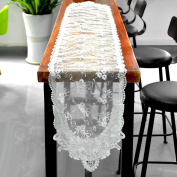 Table Runner, Outgeek Decorative Embroidered Dining Table Lace Tablecloth for Home