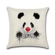 beiguoxia Lovely Panda Print Pillow Case Linen Cushion Cover Home Sofa Car Decor
