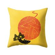 Profusion Circle Cartoon Animal Print Throw Pillow Case Cushion Cover for Home Sofa Decoration