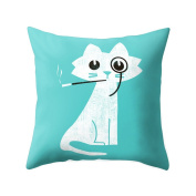 Profusion Circle Cartoon Animal Print Throw Pillow Case Cushion Cover for Home Sofa Decoration