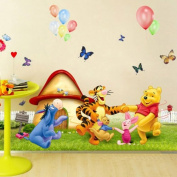 Children kids wall stickers wall decor WINNIE THE POOH Size 70cm x 50cm