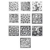 Demiawaking 10pcs Retro PVC Waterproof Bathroom Toilet Tile Wall Stickers Home Decor