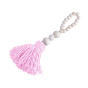 Nordic Wood Beads Tassel String Design Kids Room Tent Bed Wall Decoration Gift