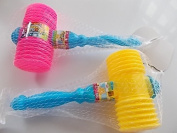 2 Pcs Children hammer pink and yellow with sound Effect