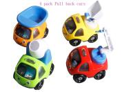 Cartoon children back to force the car mini children back to the car model puzzle creative toys cartoon toys