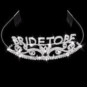 Silver Hair Band Rhinestone Bride to Be Hen Party Headband Crown Hair Tiara
