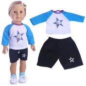 Baby Dolls Clothing, Beauty TopHigh-Quality Sportswear For 46cm Our Generation American Girl Doll